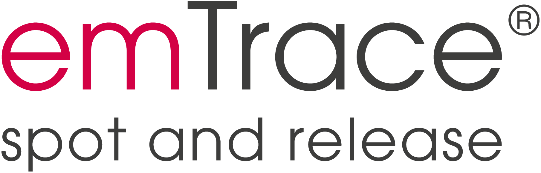 emTrace spot and release Logo